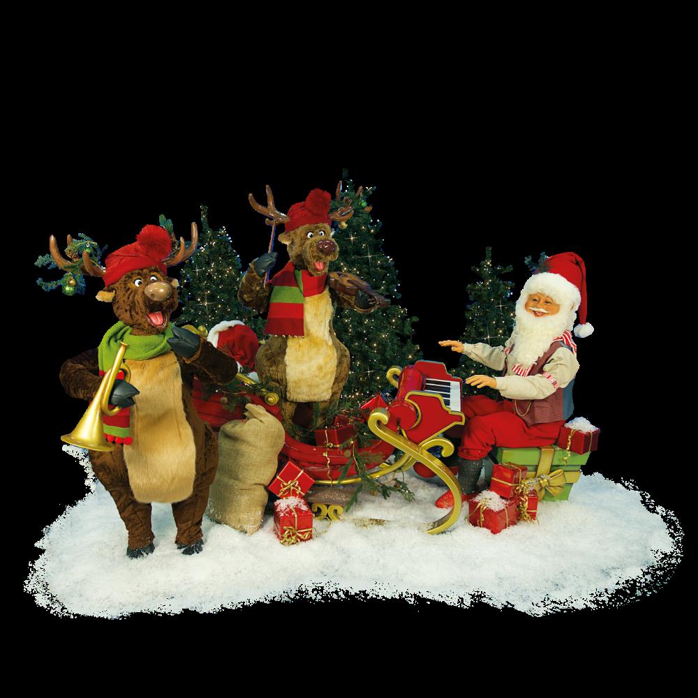 0370 Santa Claus & Reindeer band