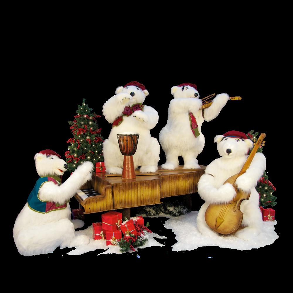 0390 Polar bear band:4 figures)