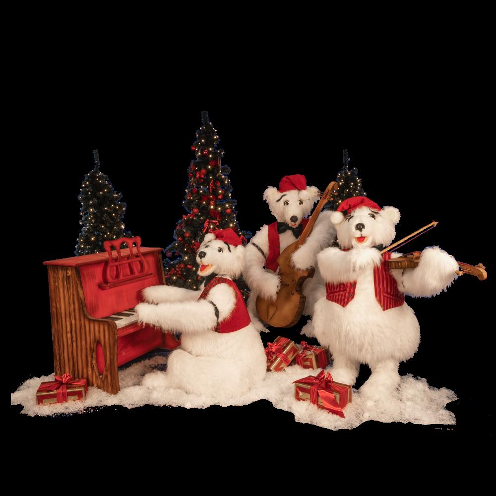 0395 polar bear band(3 figures)