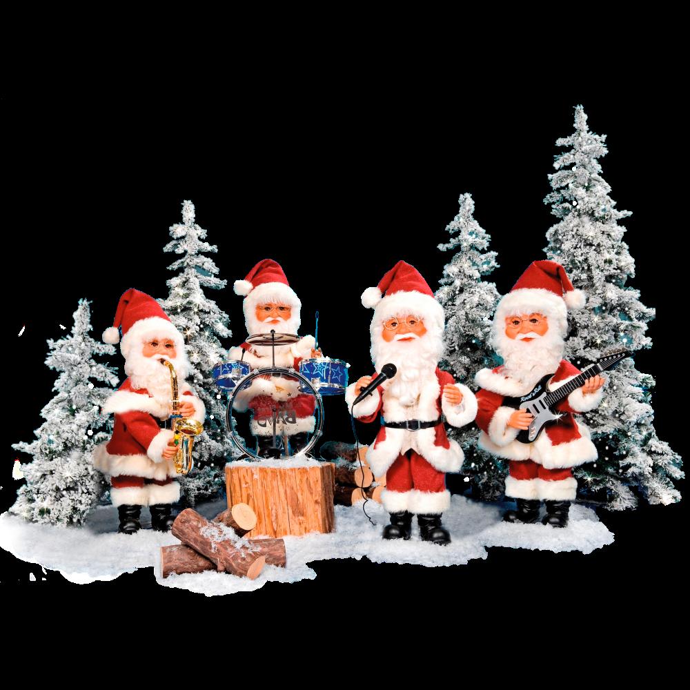 08909-santa band 4 figures