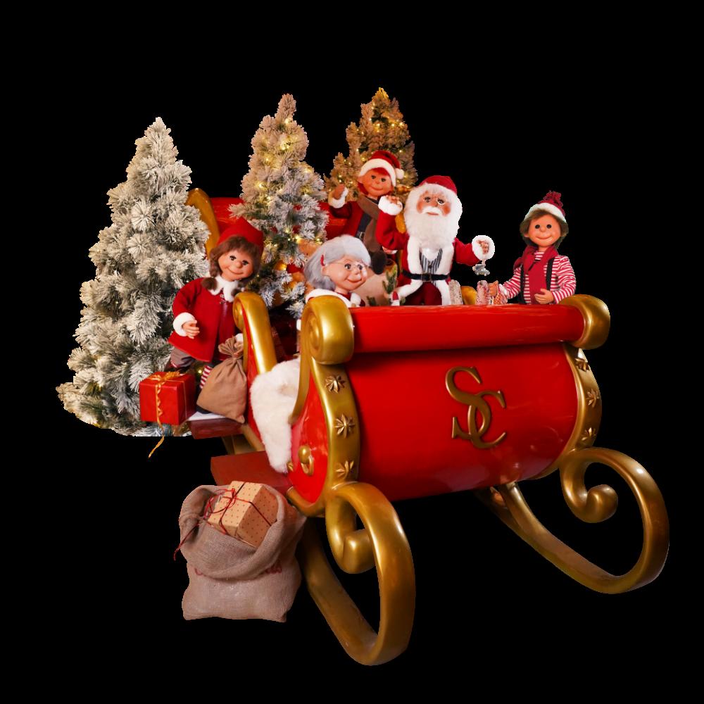CS50 santas family sleigh